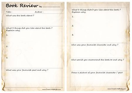 78 Best images about book reviews – Book Report Template for High School