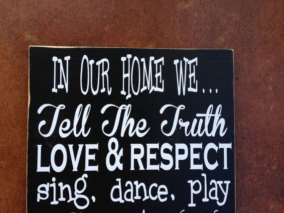 Unique Personalized Family Values Wood Sign by FussyMussyDesigns