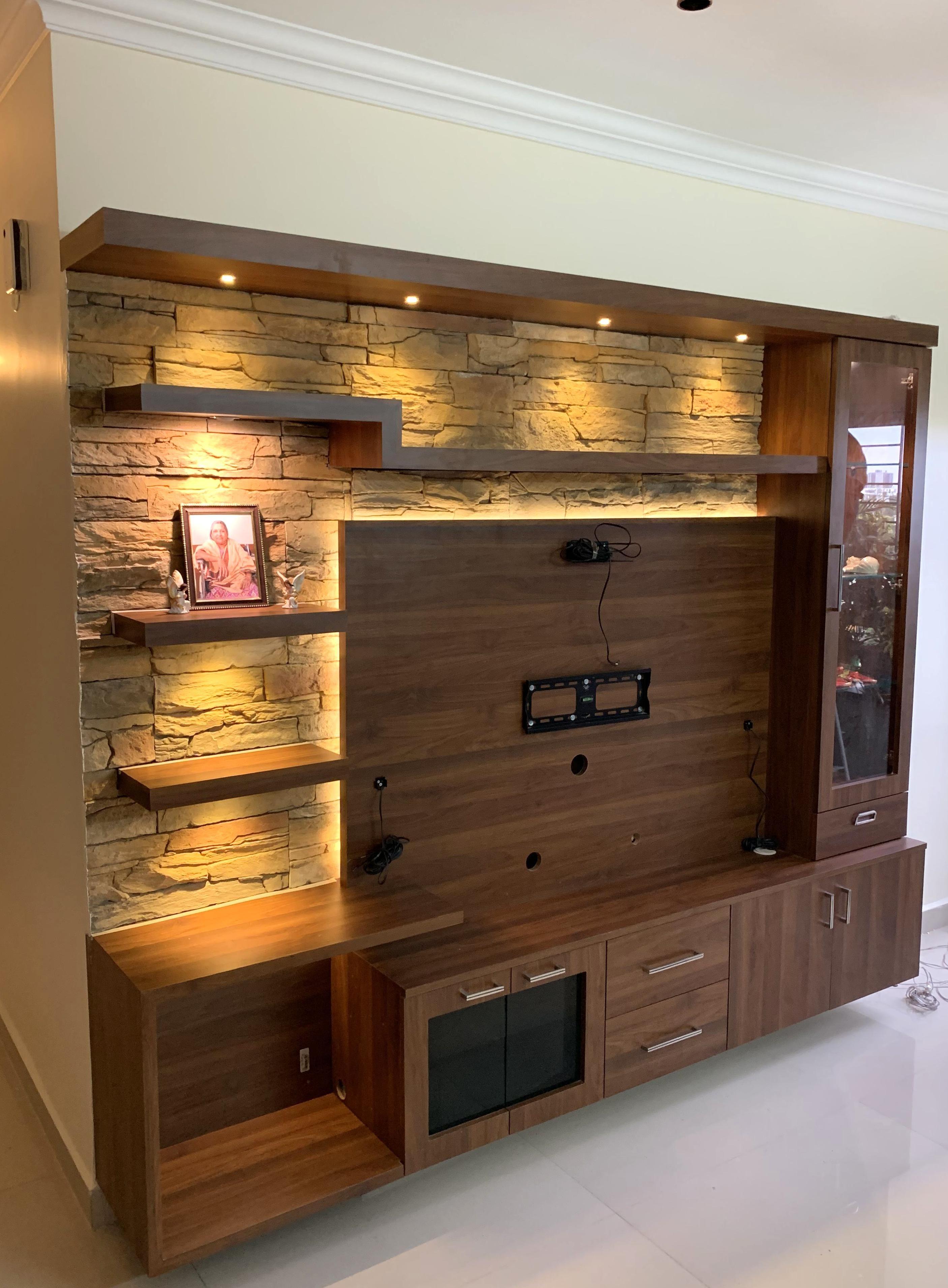Background Stone Tv Unit Design Modern Living Unit In 2020 Living Room Tv Unit Designs Tv Room Design Modern Tv Wall Units