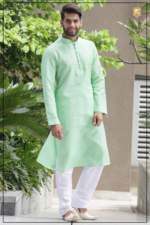 Khadi Cotton Kurta Pajama Bollywood Men/'S Shirt Designer Indian Kurta Dress