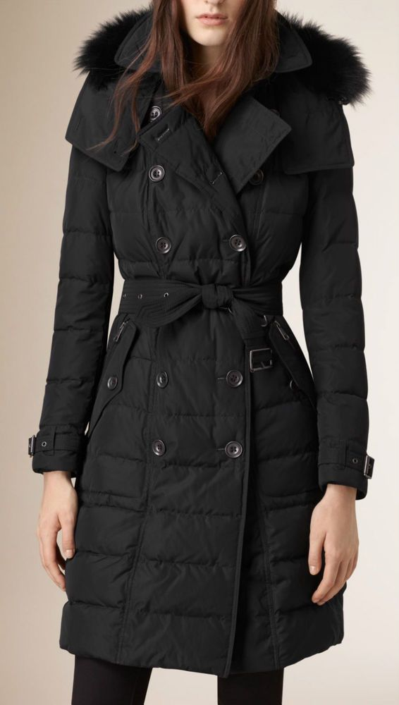 aa70745c3 Women's Coats & Jackets   Burberry Coats   Burberry coat, Fur trim ...