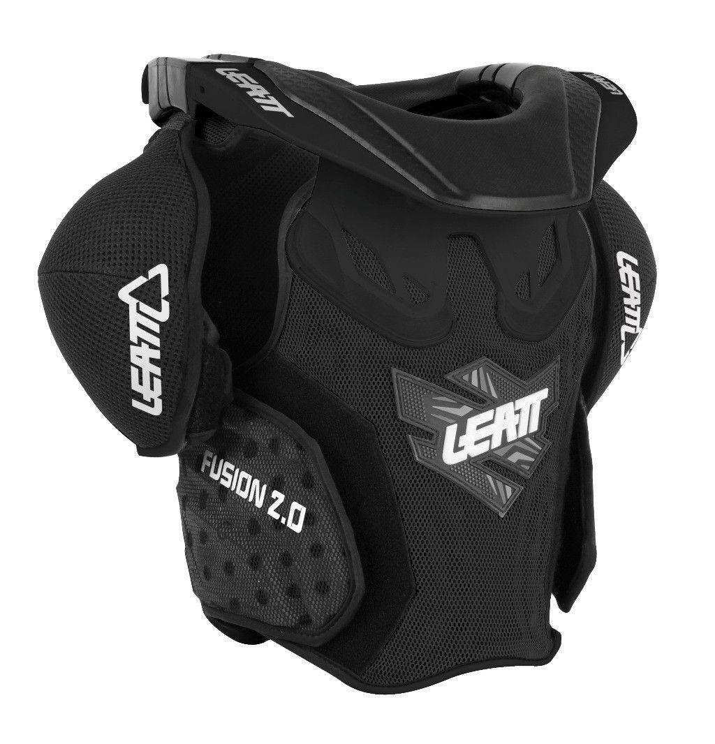 Leatt Fusion 2 0 Vest Body Armor And Neck Brace For Juniors
