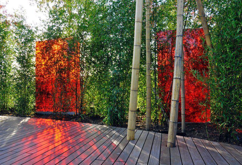 Wasser, Feuer, Erde: Ein schöner Garten spielt mit den Elementen ...