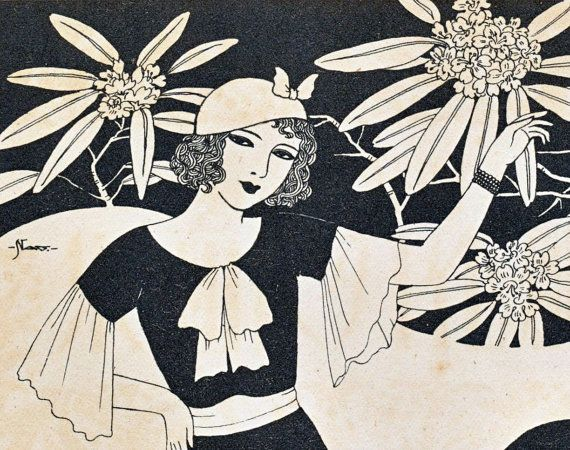 Vintage art deco prints published in japan no 1