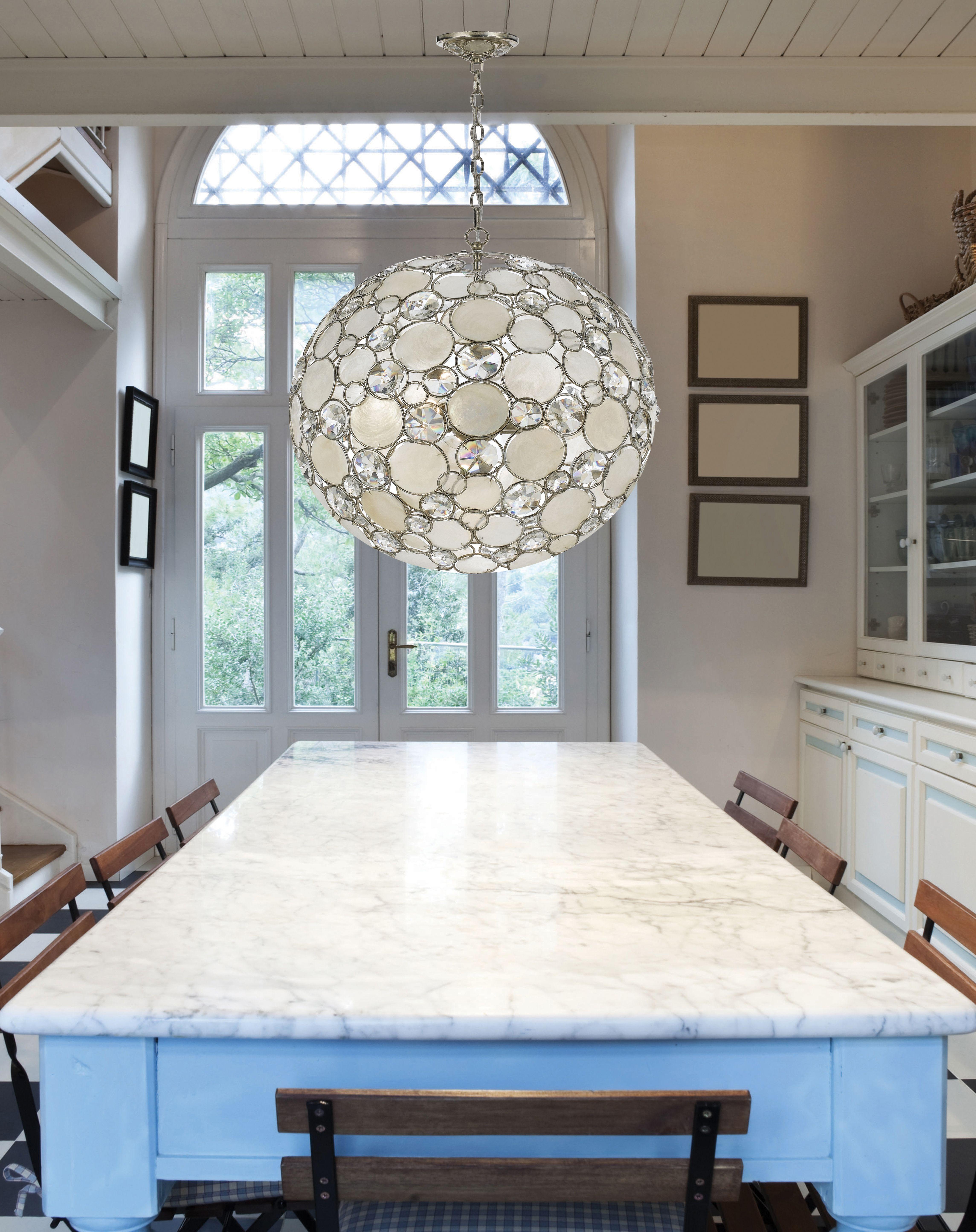 Soft interior lighting by stylish capiz chandelier rectangular soft interior lighting by stylish capiz chandelier rectangular granite dining table with cool capiz chandelier arubaitofo Choice Image