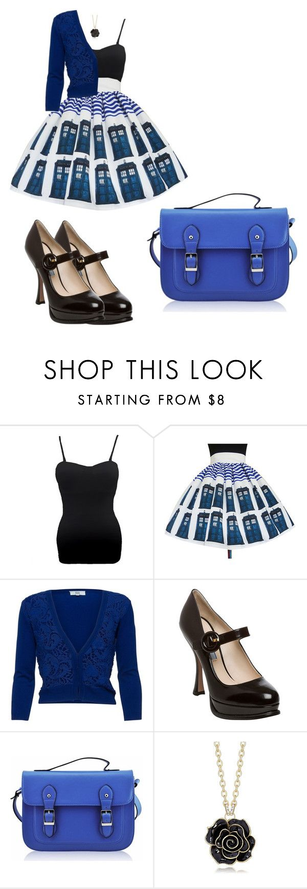 """""""Charlie checks in"""" by lorelei-tempest ❤ liked on Polyvore featuring Noa Noa, Prada and FC Select Vegan Bags"""