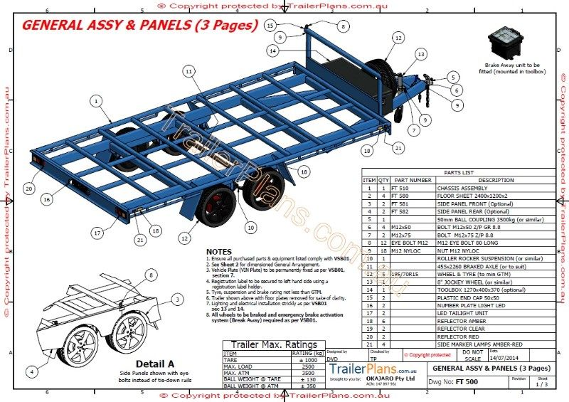 4.8m Flat Top Trailer in 2020 Trailer plans, Flatbed