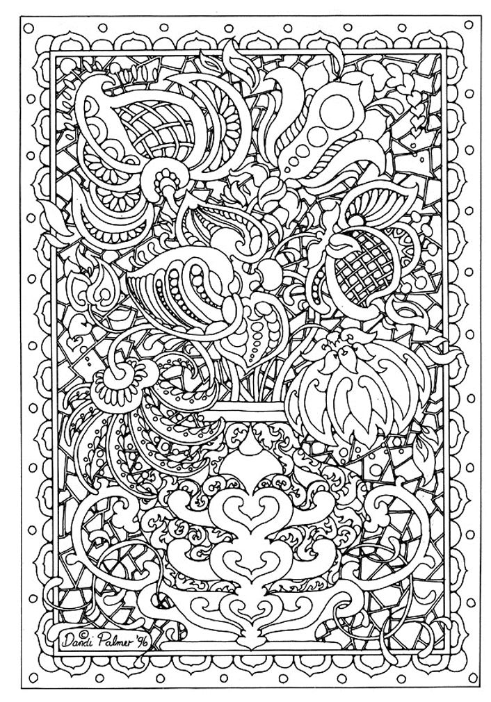 To print this free coloring page «colorear-adulto-flor-abstrait ...