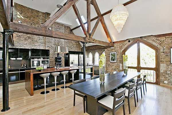 hot homes riverside warehouse conversions warehouse lofts and kitchen living. Black Bedroom Furniture Sets. Home Design Ideas