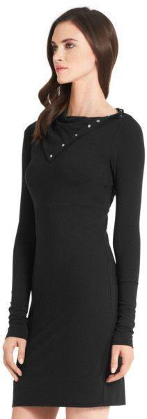 $158 NWT DIANE VON FURSTENBERG Classic Turtle Black DRESS sz S #DianevonFurstenberg #LBD #LittleBlackDress