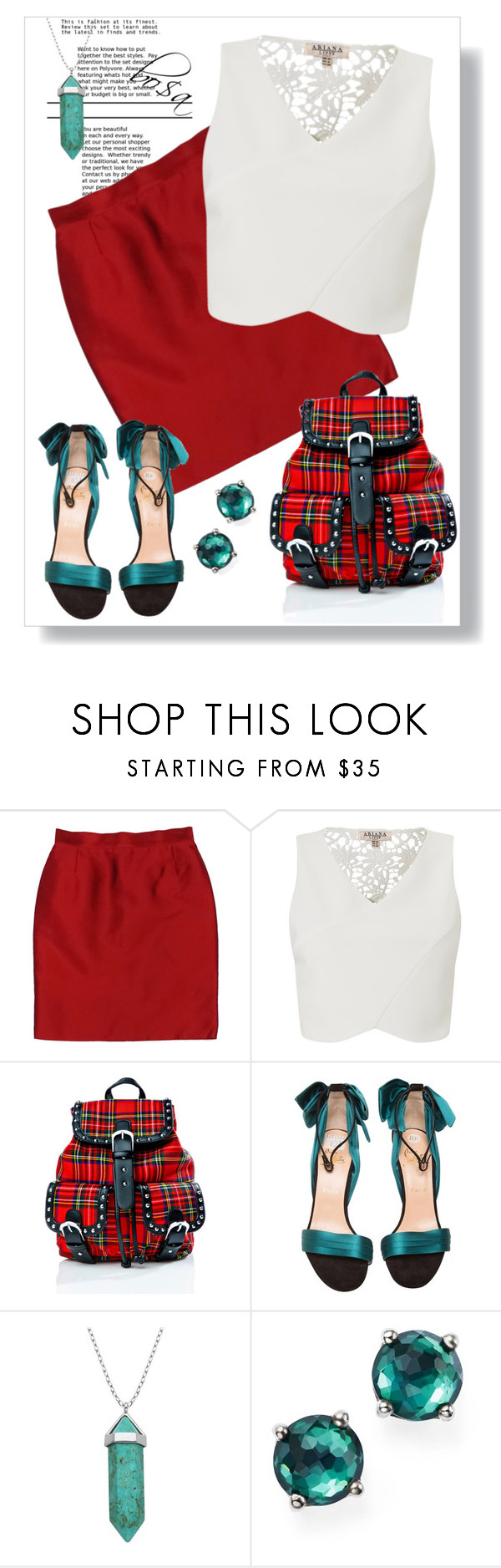 """Untitled #89"" by hibaelhafar ❤ liked on Polyvore featuring Dolce&Gabbana, Lipsy, Current Mood, Christian Louboutin, Lord & Taylor and Ippolita"