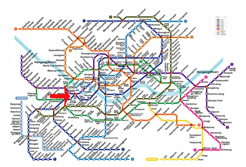 Ansan Seoul Subway Map.Seoul Subway Station Map A Tale Of Two Cities Visit Seoul
