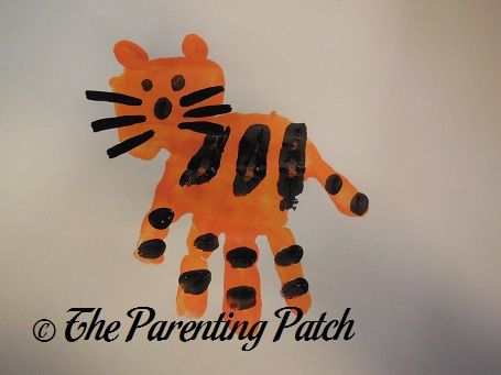 T Is for Tiger Handprint Craft   Tigers, Patches and Craft