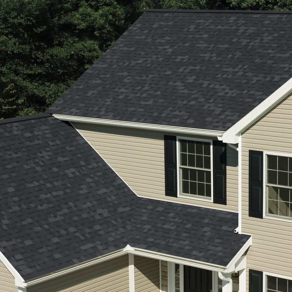 Best Owens Corning Oakridge Algae Resistant Onyx Black Laminate 400 x 300