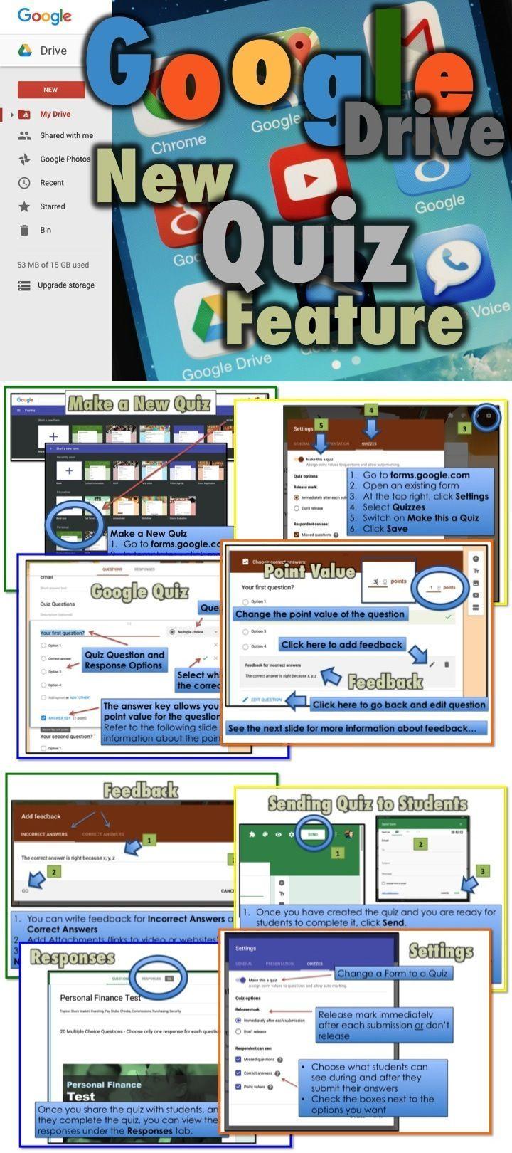 Google Quiz Feature In Google Forms Teacher Technology Google Education Google Classroom