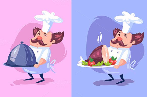 Funny cook character. Vector