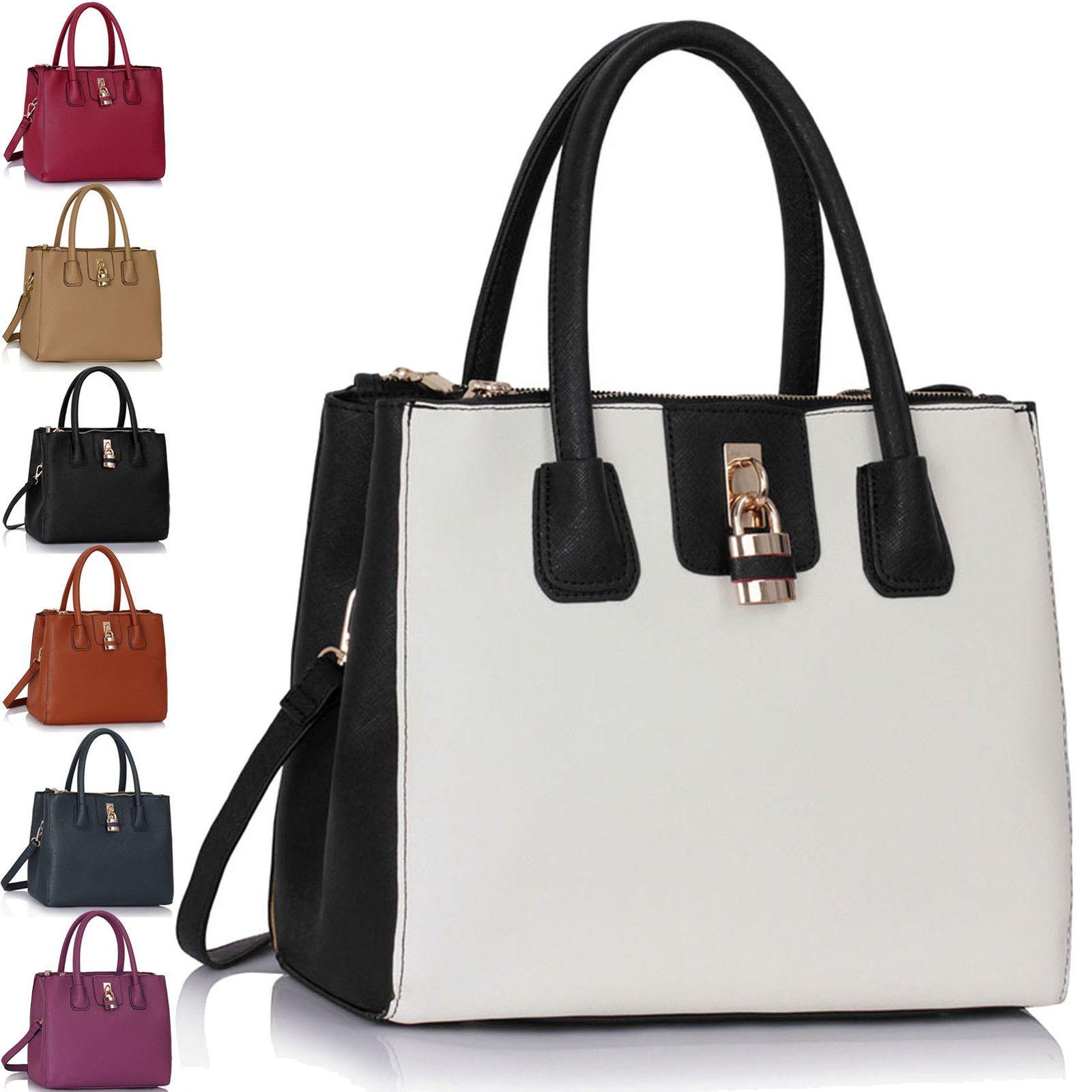 0cb9f3345ed6 Ladies Leather Handbags Large Womens Designer Bags Tote Shoulder New ...