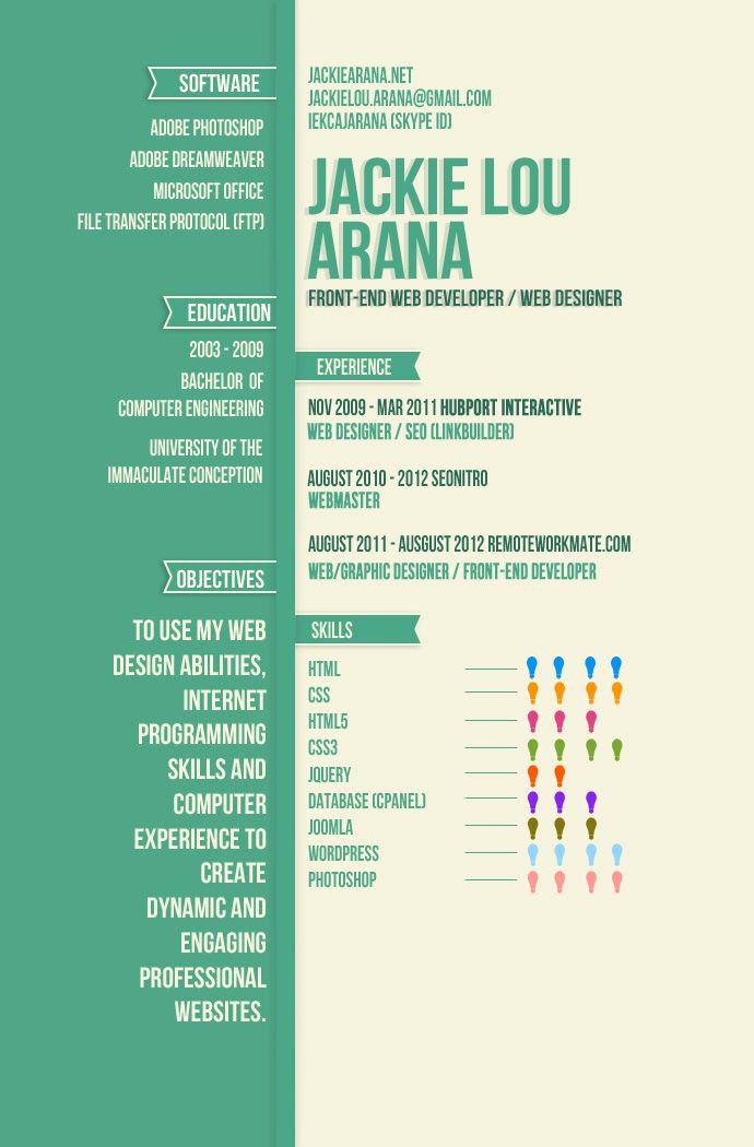 i like the way it looks design Pinterest Infographic resume