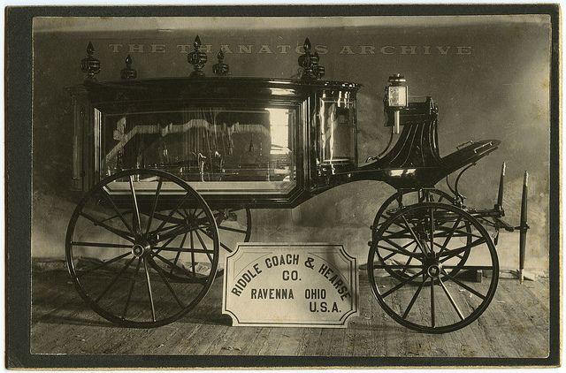 Riddle Hearse Hearse Victorian Photo