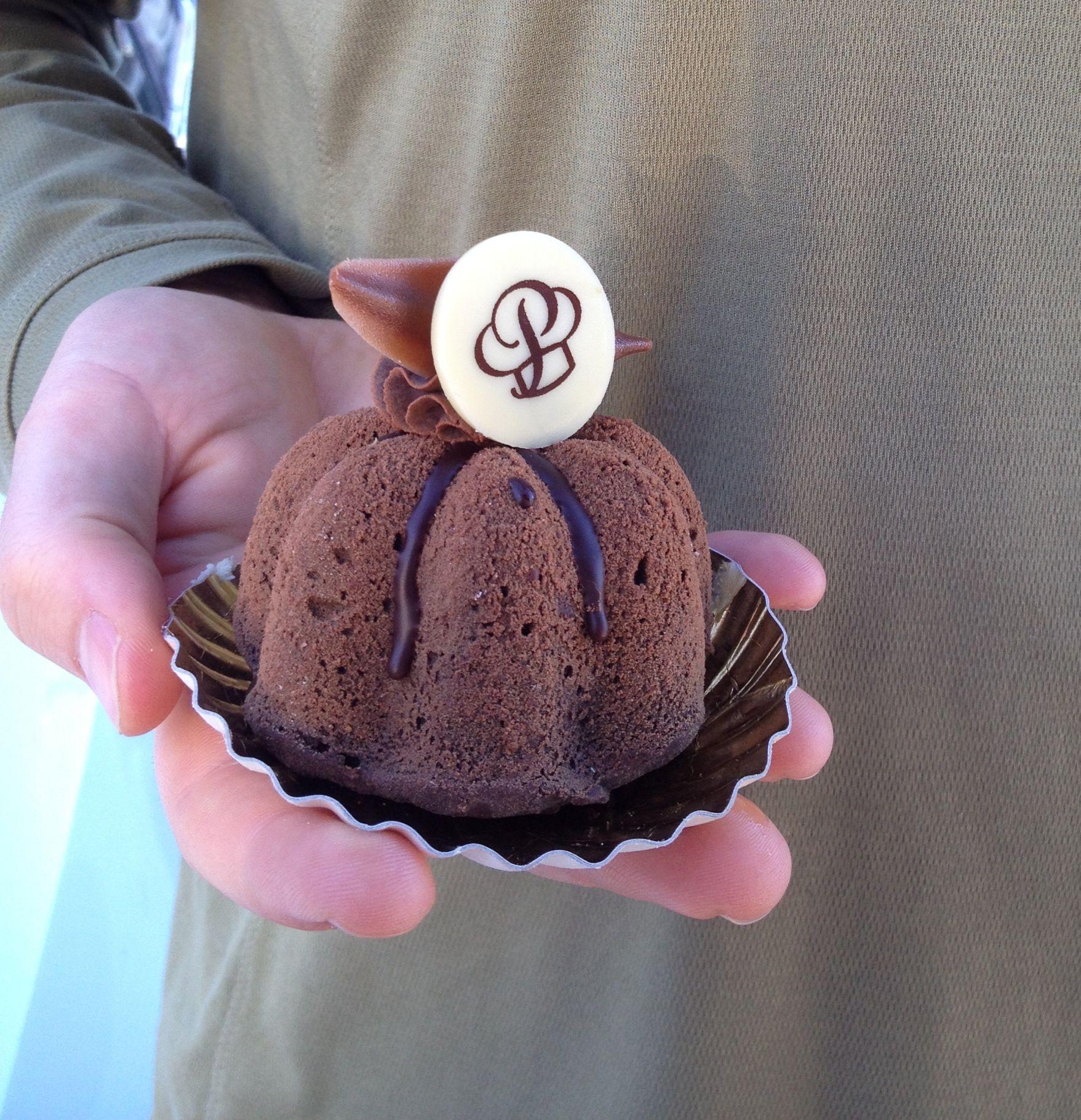Flourless chocolate cake from portos bakery in burbank