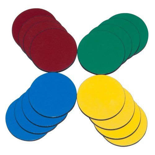 16-Pack Flexible Magnets in Assorted Colors 1-Inch Diameter.