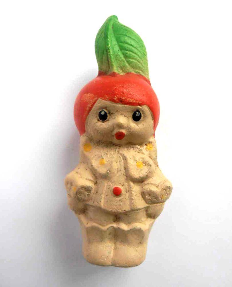 1960s USSR Russian Soviet SOUND RUBBER Doll Toy BOY CHERRY CIPOLLINO Fairy Tale