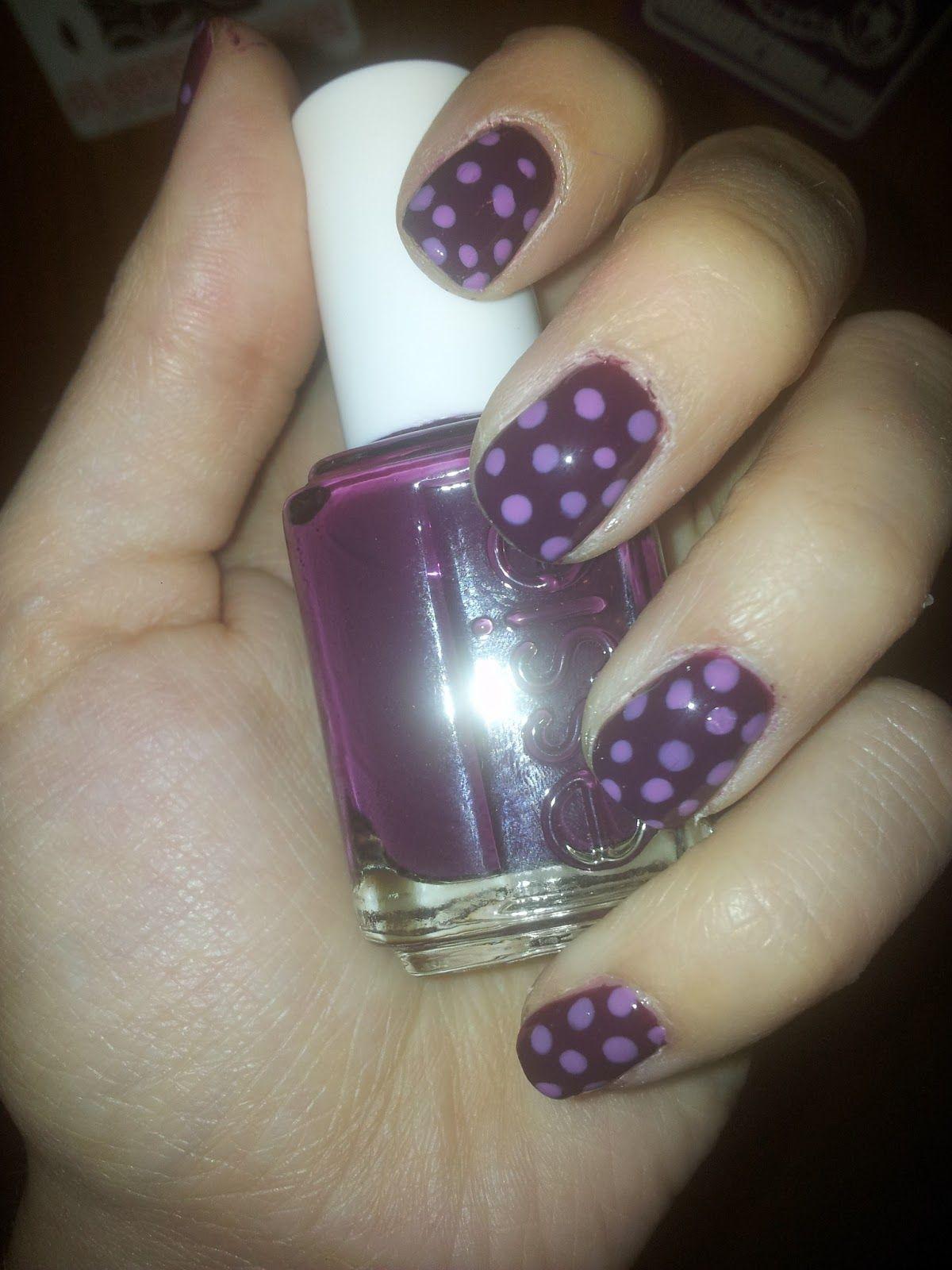 Polka dots nails nails nails pinterest nail nail