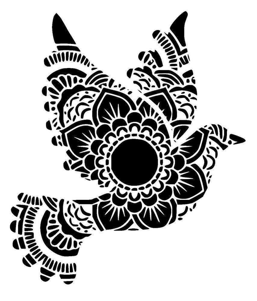 "mandala stencil 4 craft,fabric,glass,furniture,wall art up to 33/"""