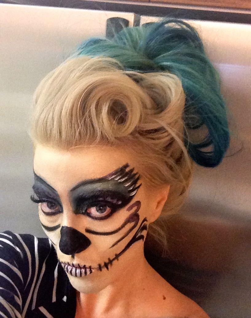 Dark angel make up day of the dead Halloween make up
