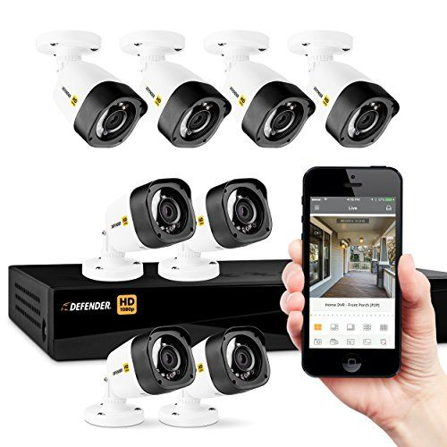 Defender Hd 1080p 8 Channel 1tb Security System With 8 Bullet Cameras Be Sure To Check Out This Awesome Product It Bullet Camera Dvr Security System Camera
