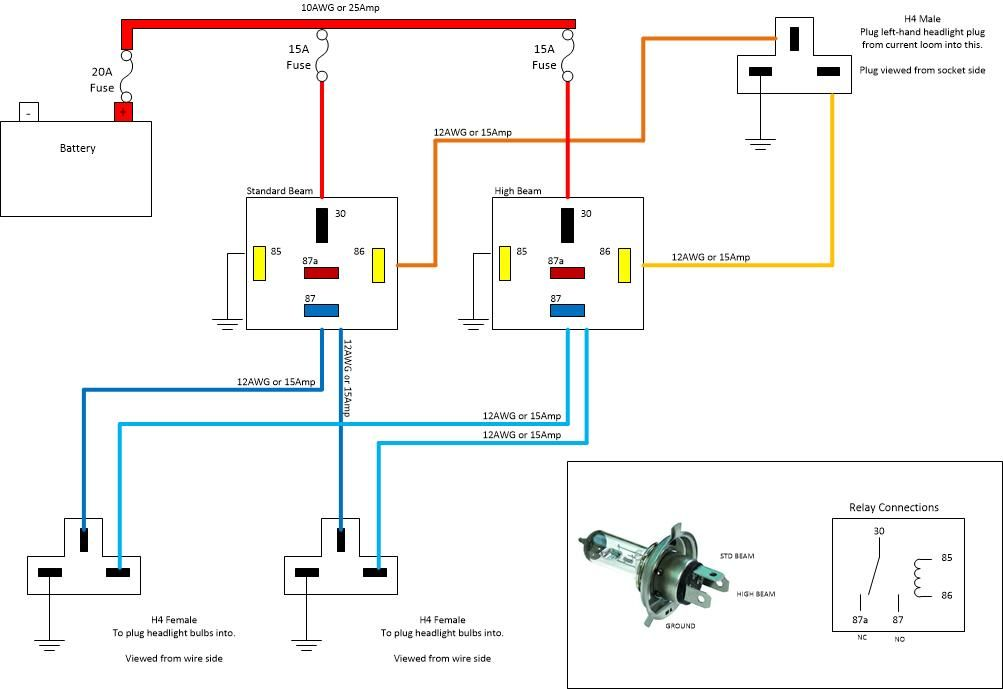 Wiring Diagram For Headlights Halogen - Wiring Diagrams on old car diagrams, headlight relay wiring diagrams, halogen light wiring, bi-xenon bulbs diagrams, halogen vs standard car,