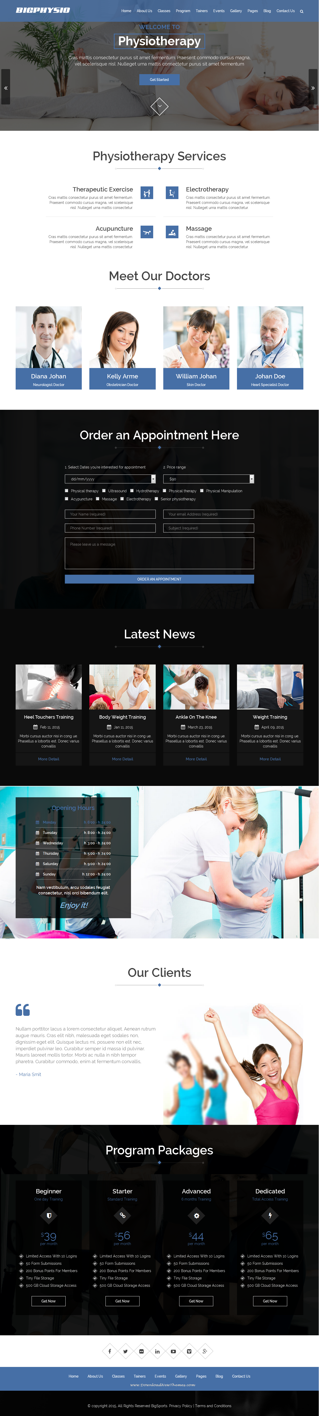 Multipurpose Physiotherapy Website Template It Comes With Ecommerce Design Theme Is Suitable For Websites Tha Ecommerce Design Web Design News Website Design