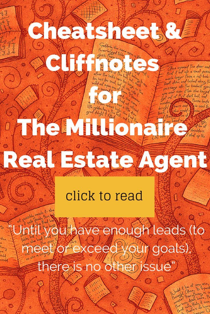The Millionaire Real Estate Agent Book Review Cliffnotes Part