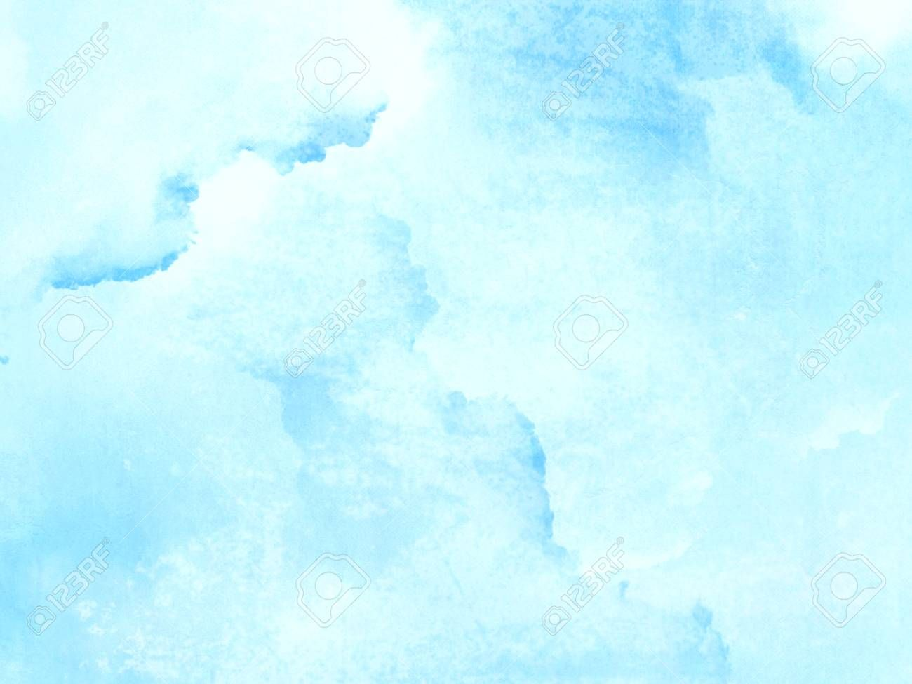 Light Blue Watercolor Background Abstract Paled Texture Stock