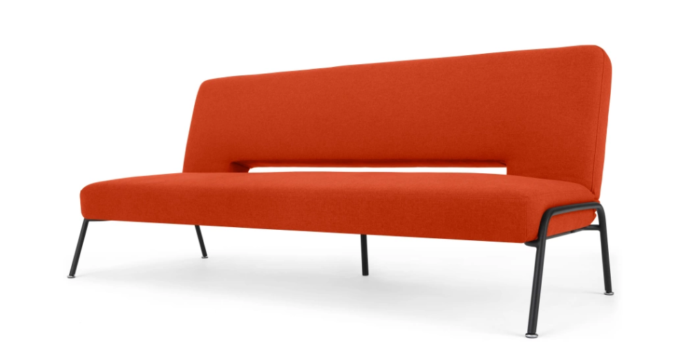 Knox Click Clack Sofa Bed, Retro Orange Retro sofa