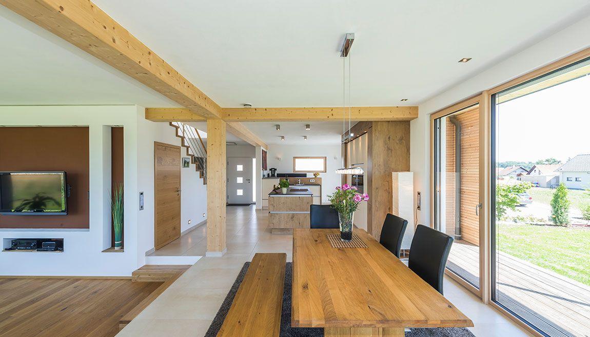 Architektenhaus Dornhan Oekohaus offene Küche Hausbaukonzepte - bilder offene küche