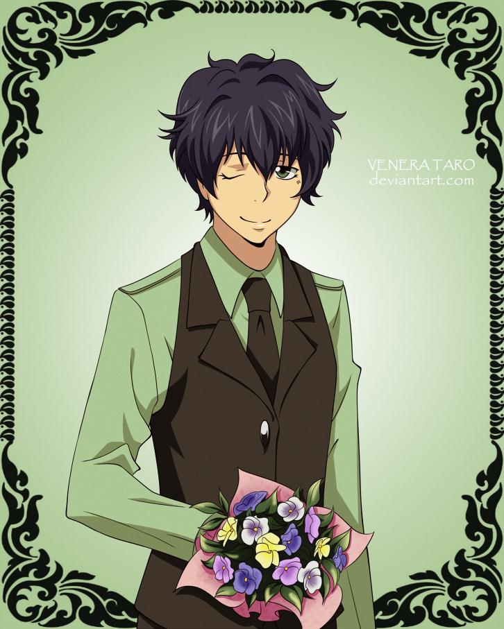 Flower set Pansy by VeneraTaro อะนิเมะ, หนุ่มอะนิเมะ