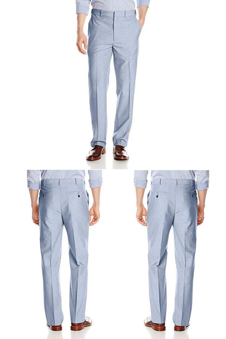 Savane Men S Flat Front Textured Linen Pants Men Black Linen Pants