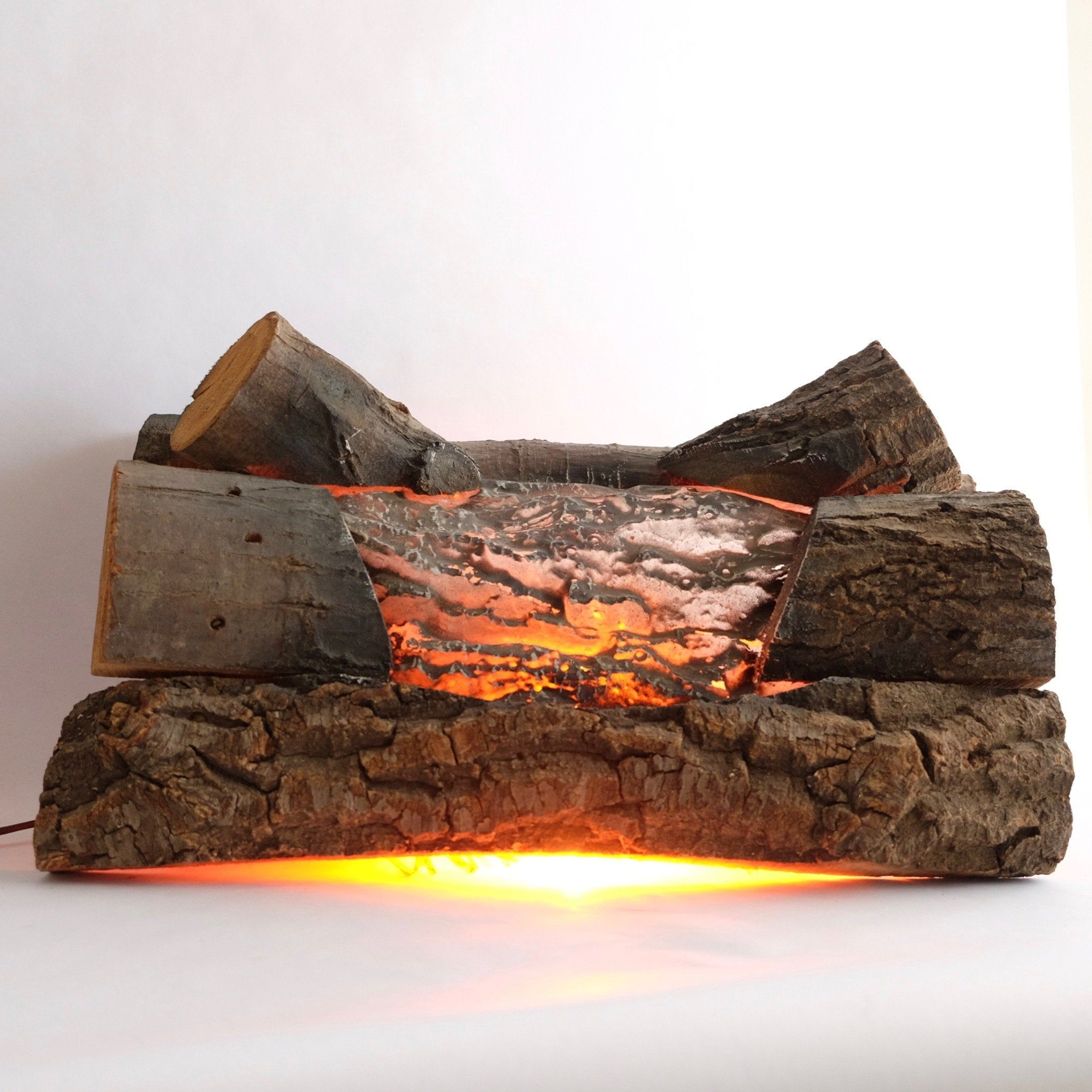 Vintage Electric Fireplace Logs   Faux Fireplace Insert   Lights ...