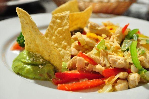 Tasty mexican food- fajitas de pollo