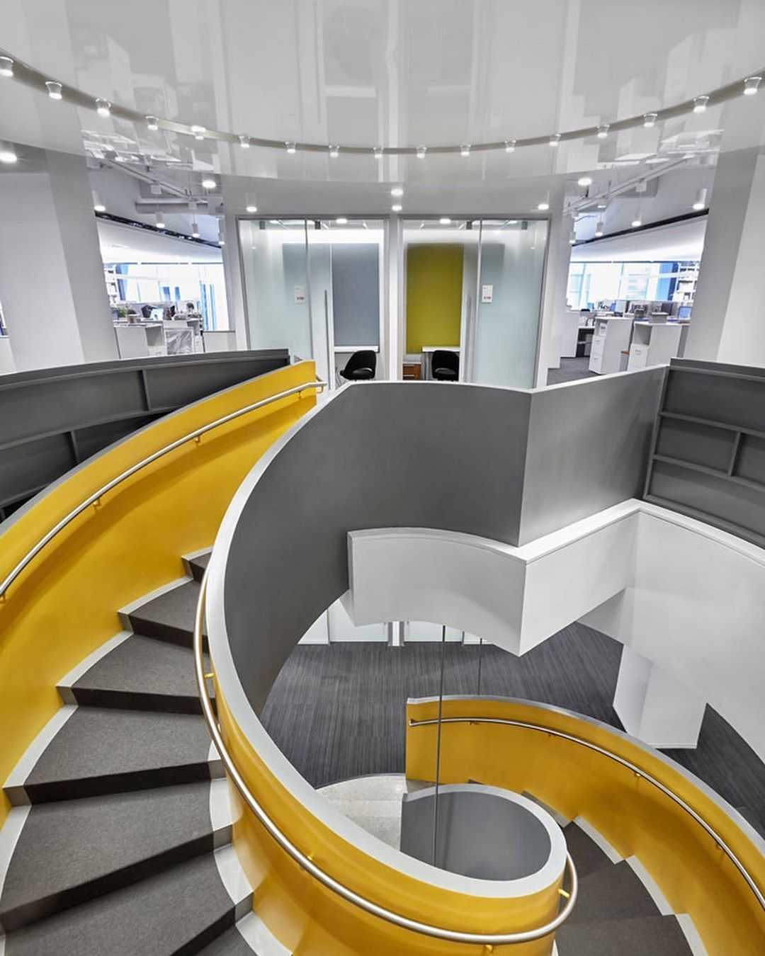 Reflective Laquer Ceiling Hachette Book Group New York Ny Stairs Design Design Strategy Interior Furniture