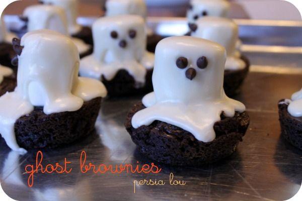 Halloween:  Ghostly Brownies