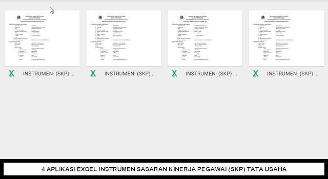 4 Aplikasi Excel Instrumen Sasaran Kinerja Pegawai Skp Tata Usaha Instrumen Aplikasi Sekolah