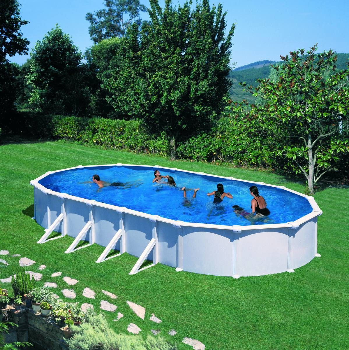 12 Piscine Gre D915x470 H132 Acier Hors Sol Ovale Dream Pool Atlantis Lekingstore Commandez La Sur Lekingstore C Piscine Hors Sol Piscines De Reve Piscine