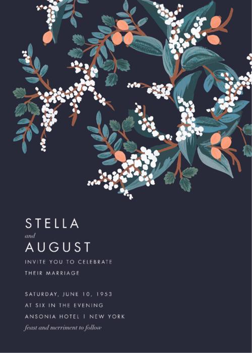 Mandarin Grove Wedding Invitation Paper Source in 2020
