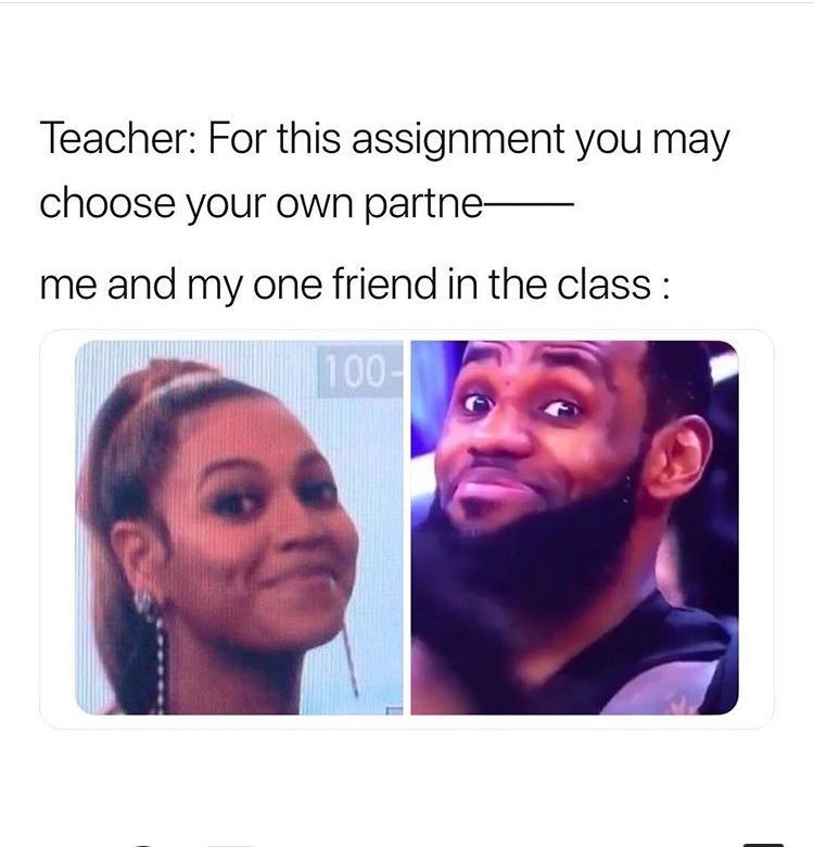 Me And My Friend During French Class Funny Relatable Memes