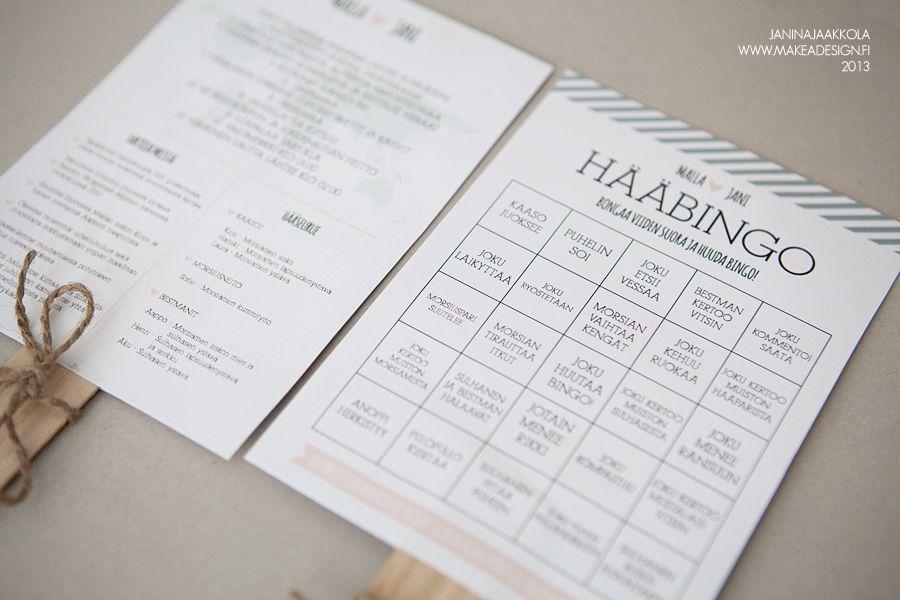 MakeaDesign / Hääkutsu / Hääbingo / Hääohjelma