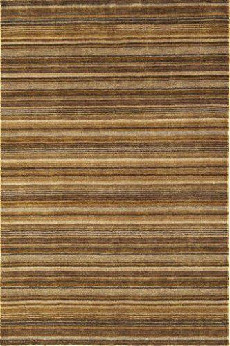 Teppich Wohnzimmer Carpet Modern Design JOSEPH STREIFEN RUG 100%  Neuseeländische Wolle 160x230 Cm Rechteckig Braun