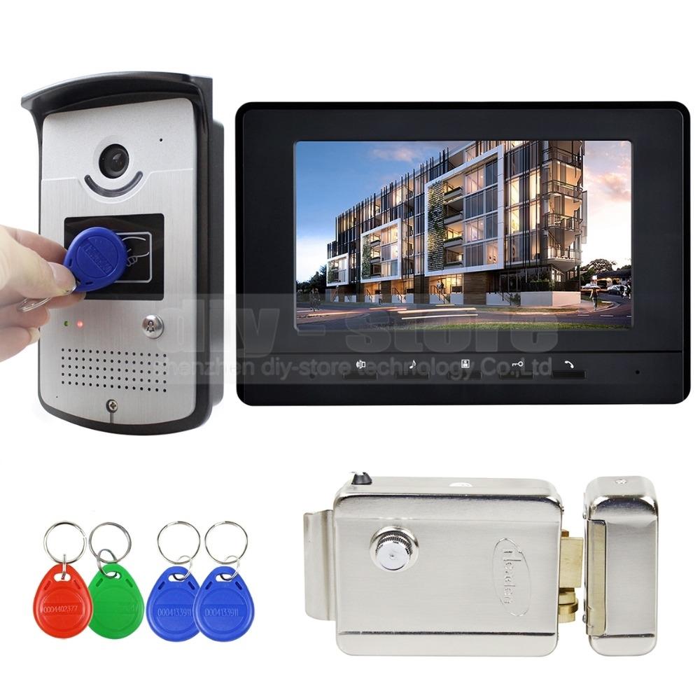 141.51$ Buy now - DIYSECUR 7 inch Wired Video Door Phone Doorbell ...