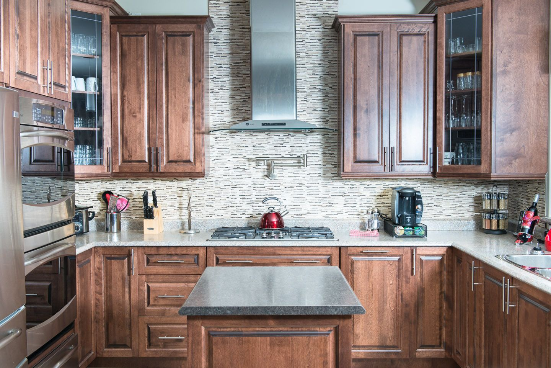 Best Distinctive Interiors Birch Cabinets Stained Nutmeg 400 x 300